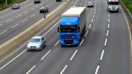 Stock Video Footage of M1 motorway in England with traffic moving both ways