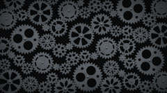 Mechanical rotating gears background - stock footage
