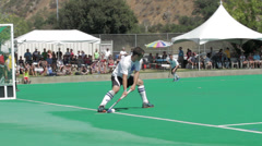 Short corner penalty shot attempt Stock Footage