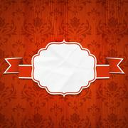 Classical frame on a Wooden background Stock Illustration