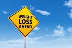 Signpost of weight loss Stock Illustration