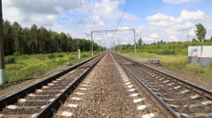Rails-converging distance - stock footage