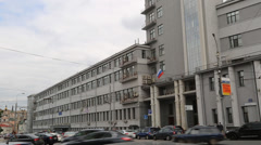 The main building of Russian Railways Stock Footage