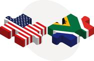 Stock Illustration of usa and south africa flags in puzzle