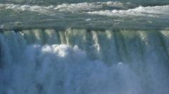 Niagara Falls in Slow Motion Stock Footage