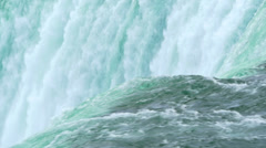 Crest of Niagara Falls in Slow Motion Stock Footage