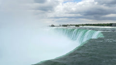 Horseshoe Falls in Slow Motion Stock Footage