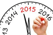 Stock Illustration of year 2015 is coming