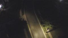 Streetlamp night street Stock Footage