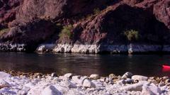 Colorado River Kayakers - stock footage