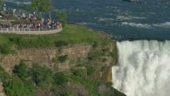 Niagara Falls in Super Slow Motion Pan Left Stock Footage