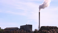 Stock Video Footage of Factory polluting the air