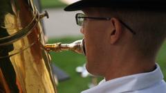Polka Band Tuba Player Arkistovideo