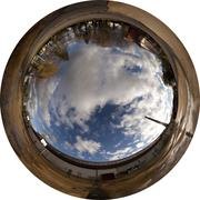 360x220 degrees Fisheye Image - abandoned factory (Allsky / Fulldome / texture) - stock photo