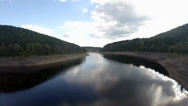 Stock Video Footage of 4k Okertalsperre Harz lake of the dam