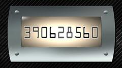 Random digital numbers Stock Footage