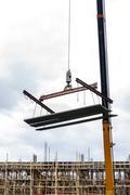 Crane hoist concrete plate Stock Photos