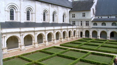 The Cloister (2) - Fontevraud Abbey - Fontevraud-l'Abbaye France Stock Footage