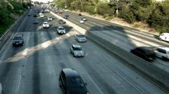 4K, UHD, Freeway traffic in Los Angeles, California, BlackMagic Camera Stock Footage