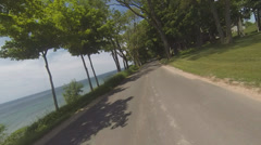 Motorcycle POV in Summer Resort Town #3 Stock Footage