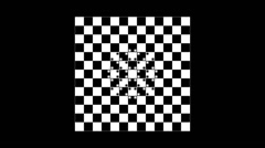Optical illusion with distorted checkered graphic 2-12 Stock Footage