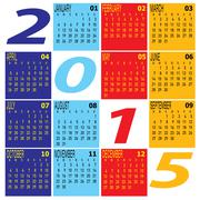 Stock Illustration of year 2015 colorful calendar Schedule
