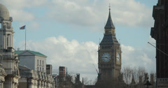 4K video of the world famous Big Ben clock tower in London Westminster Stock Footage