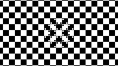Optical illusion with distorted checkered graphic 2-13 Stock Footage