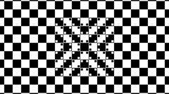 Optical illusion with distorted checkered graphic 2-14 Stock Footage
