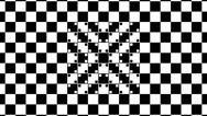 Stock Video Footage of Optical illusion with distorted checkered graphic 2-14