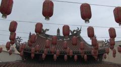 Lukang Tianhou temple in Taiwan Stock Footage