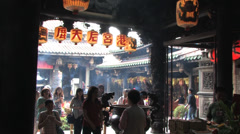 Lukang Tianhou temple in Taiwan Stock Footage