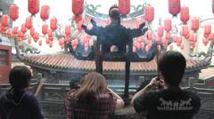 Lukang Tianhou temple in Taiwan - stock footage