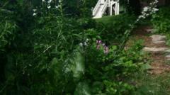 Garden 4k shot Stock Footage