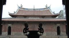Lukang Longshan Temple in Taiwan Stock Footage