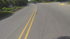 Motorcycle POV in Summer Resort Town #6 Stock Footage