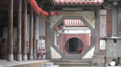 Lukang Longshan temple in Taiwan Stock Footage
