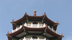 Pagoda from Bagua Mountain Temple Stock Footage