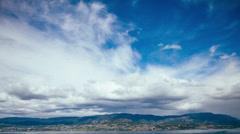 Kelowna Blue Sky Timelapse Stock Footage