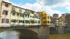 Ponte vecchio florence tuscany old bridge Stock Footage