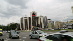 The head office of the oil company Lukoil Stock Footage