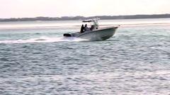 Speedboat racing off - stock footage
