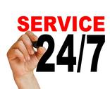 Stock Illustration of 24/7  service