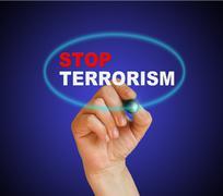 Stop terrorism Stock Illustration
