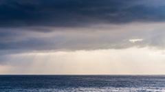 Time lapse video. Sky, sun, sea. - stock footage