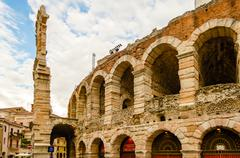 the verona arena - stock photo