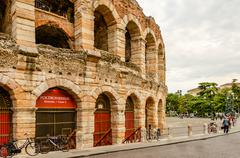 the verona arena - stock photo