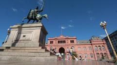 Buenos Aires - Casa Rosada Stock Footage