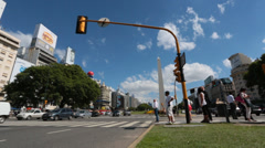 Buenos Aires - 9th of July Avenue Stock Footage