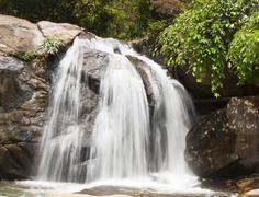 waterfalls nature - stock photo
